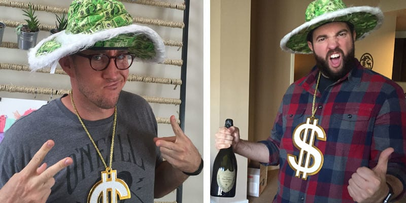 Acuity Scheduling Sent Us Champange, and Hats, and Gold Chains!