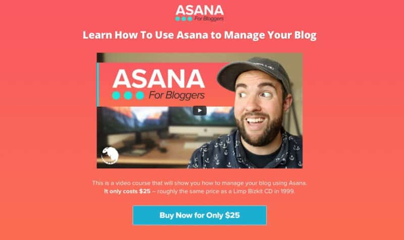 Asana For Bloggers sales page header