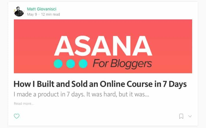 Asana For Bloggers Post on Medium