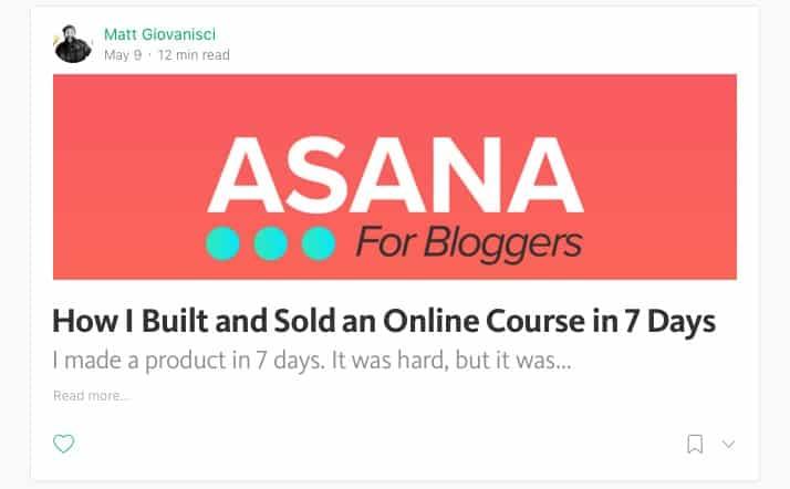 Asana For Bloggers Post on Medium