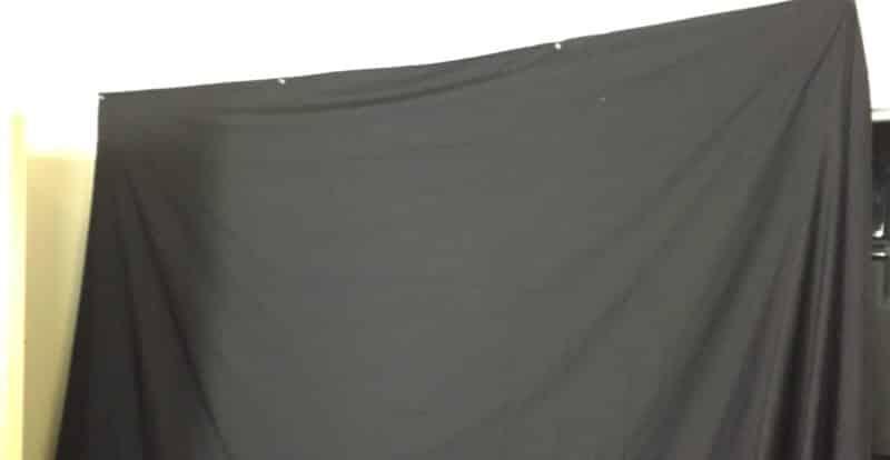 Black Cloth Backdrop for Rap Video