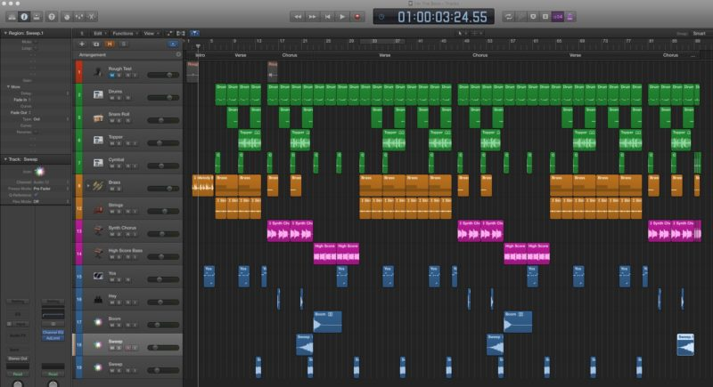 """I'm The Boss"" Logic Pro Screen Shot"
