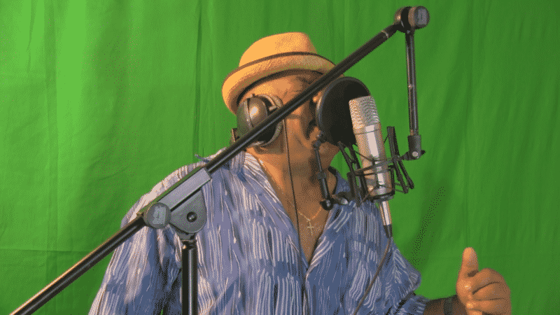 Tony Todd singing at my dad's studio in New Jersey