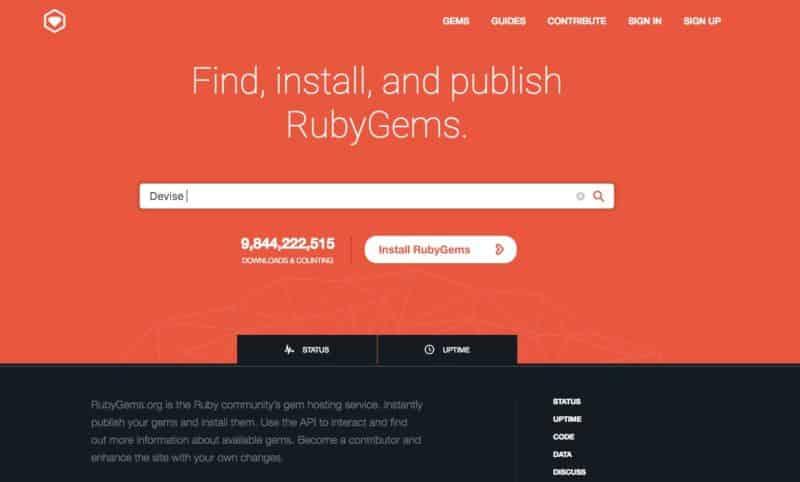 Ruby Gems Devise