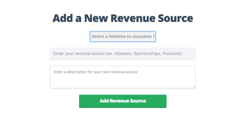 Add Revenue Source