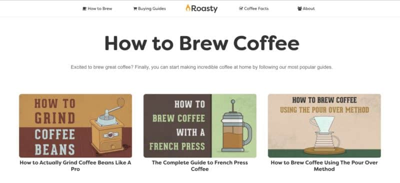 Roasty Brewing Guides