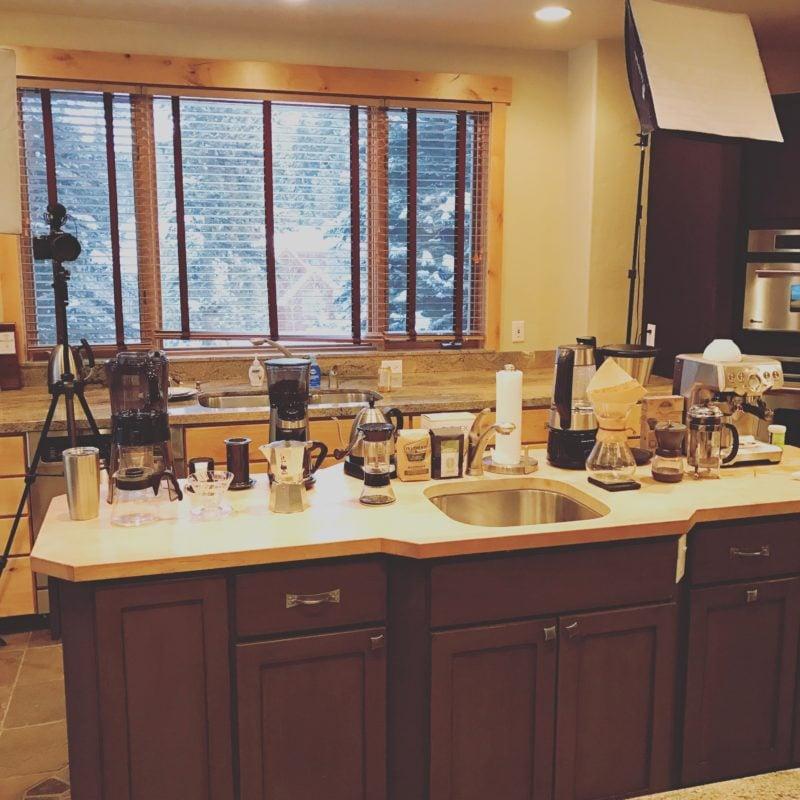Coffee Gear in Kitchen