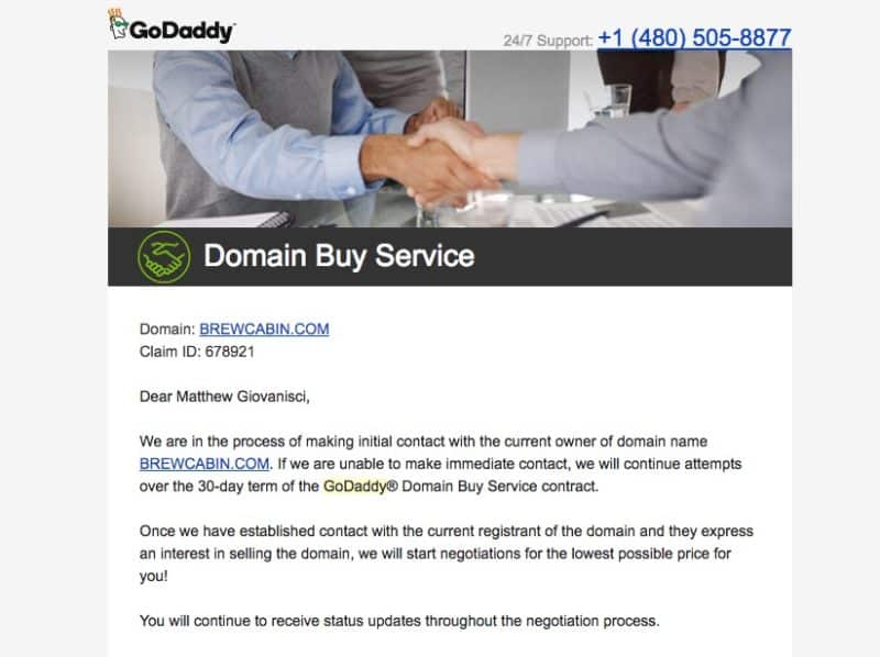 GoDaddy Domain Buy Service