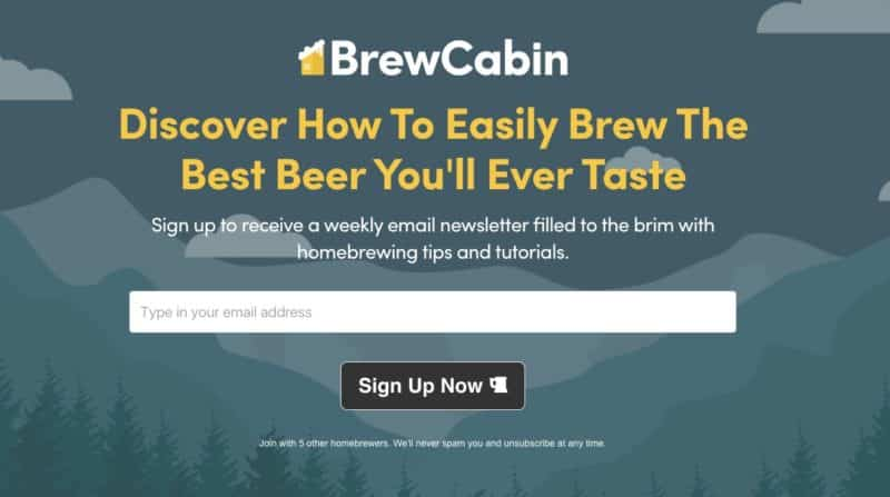 Brew Cabin Homepage Updates
