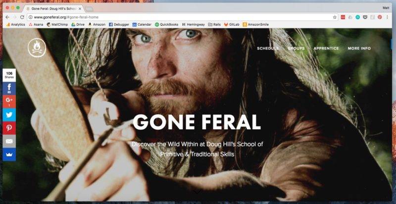 Current SquareSpace Version of GoneFeral.org