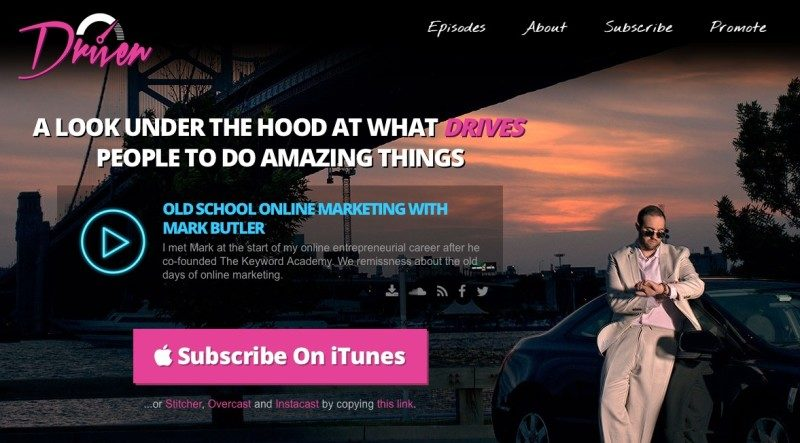 Driven Podcast Landing Page