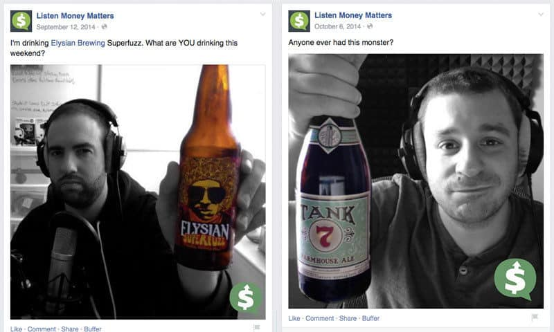 Listen Money Matters Podcast Facebook Beer Photos