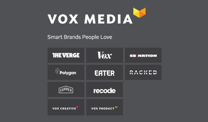 Vox Media Website Footer