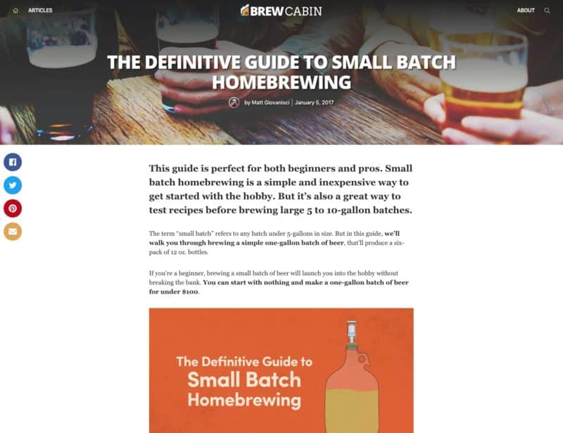 Brew Cabin Updated Article Page