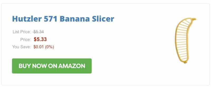Banana Slicer Amazon Product Box
