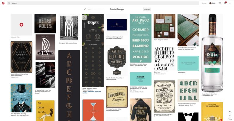 Earnist Design Inspiration Pinterest Board