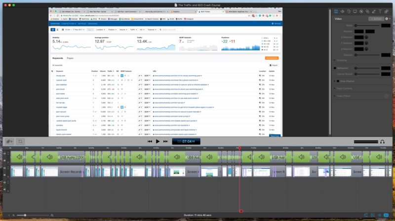 ScreenFlow 7 Edits for Affiliate Marketing Course