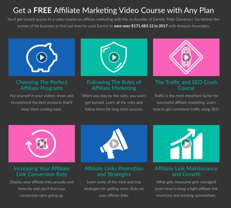 Earnist Affiliate Marketing Course Breakdown