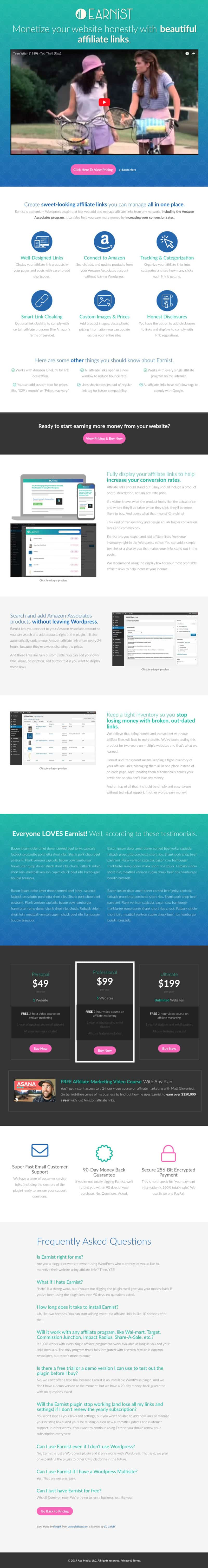 Earnist Test Sales Page