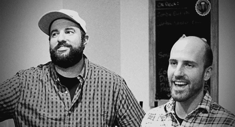 Brew Cabin Launch Party JP and Matt