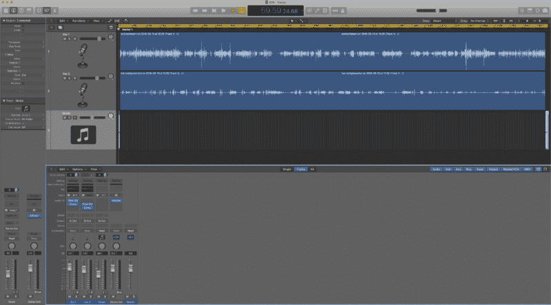 Money Lab Podcast Recording Editing Logic Pro