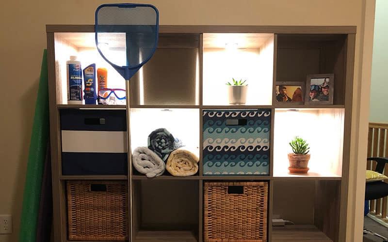 Shelf Lit Up