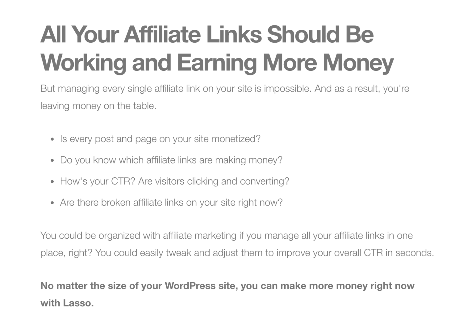 Affiliate Marketing Pain and Dream