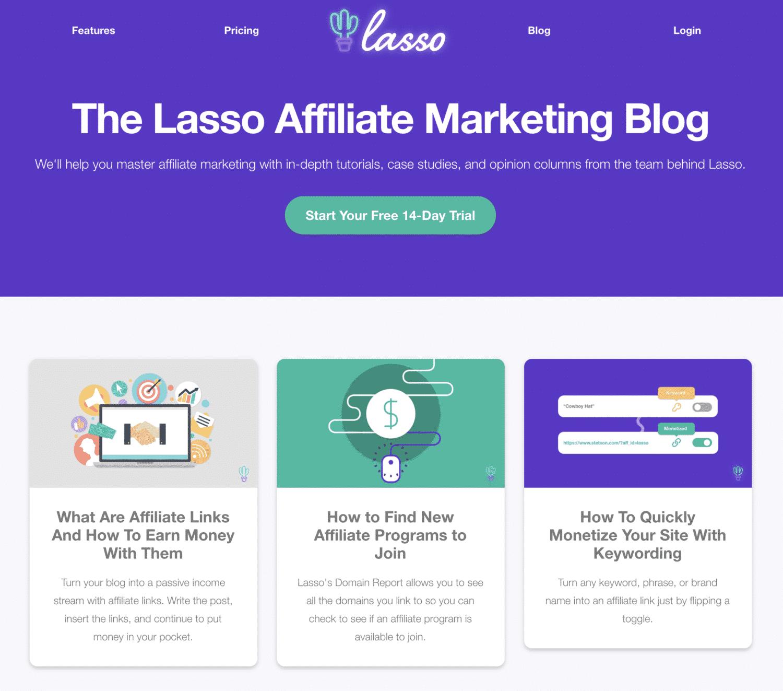 Lasso Blog Homepage