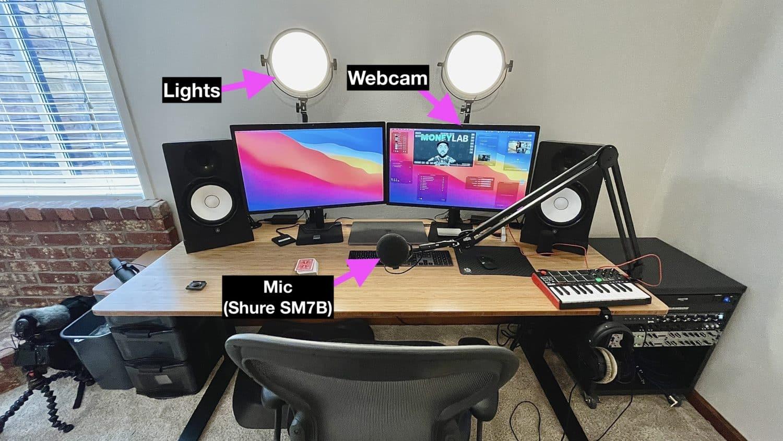 Livestream Desk Setup December 2020