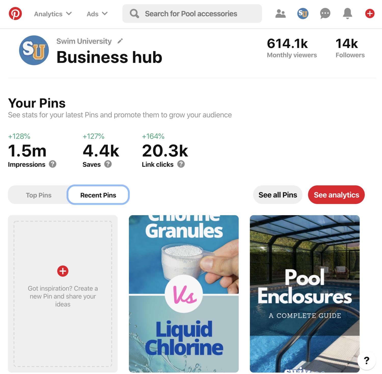 Pinterest 2020 Analytics