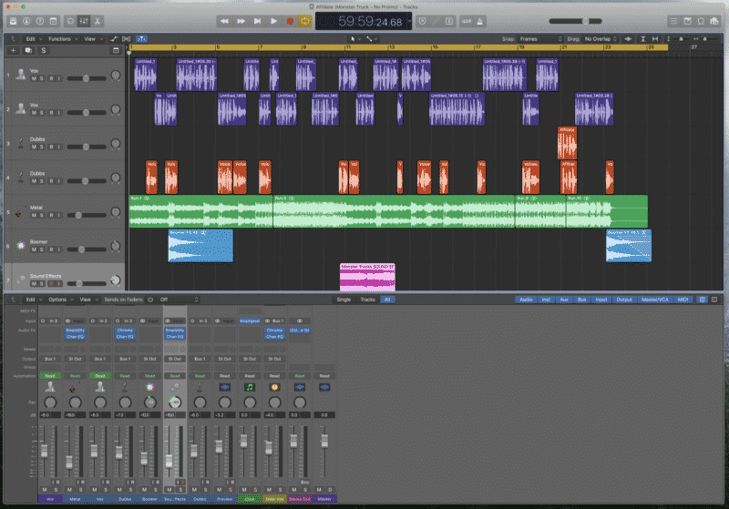 Monster Truck Podcast Ad Mixed in Logic Pro X