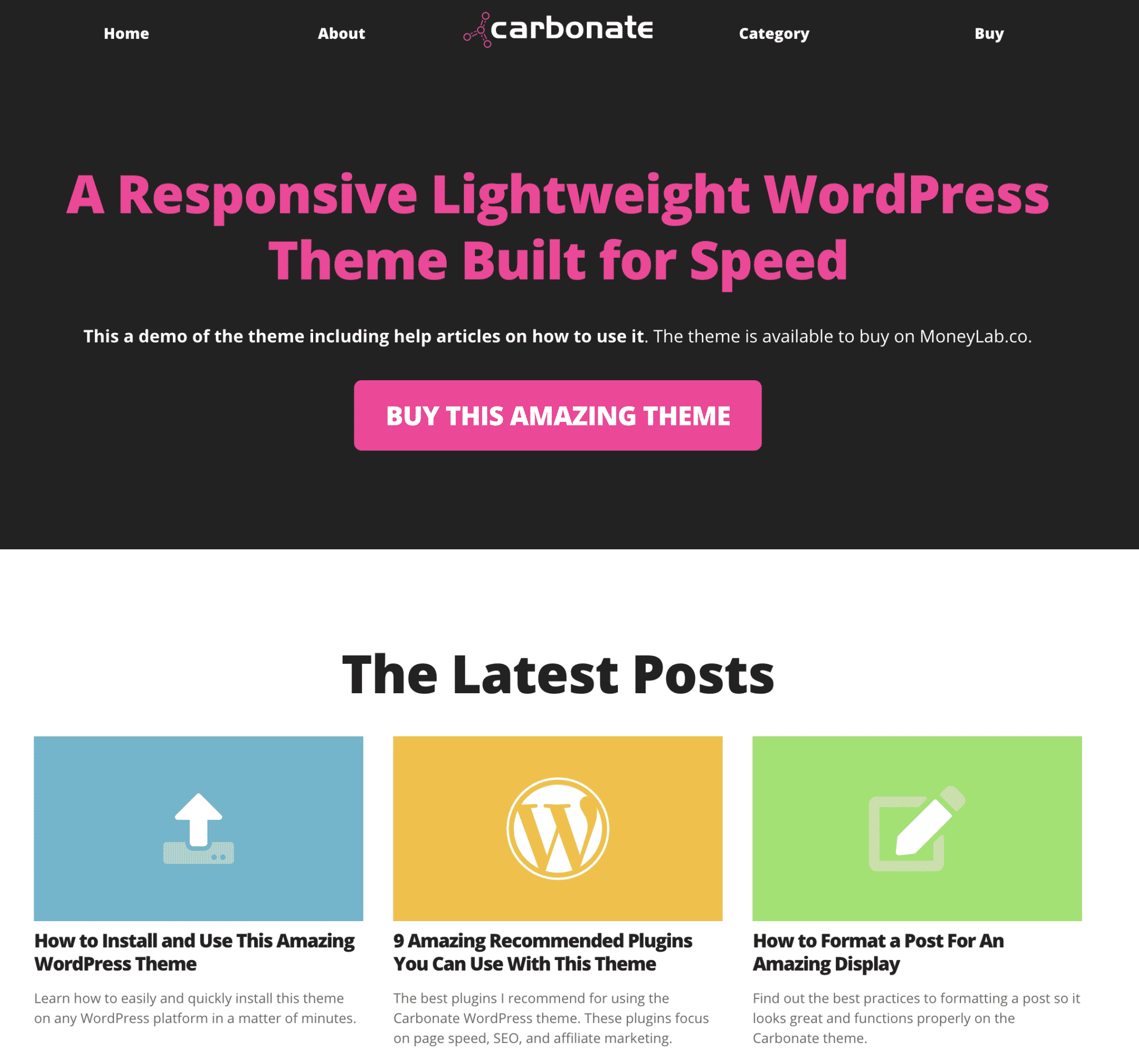 Carbonate WordPress Theme