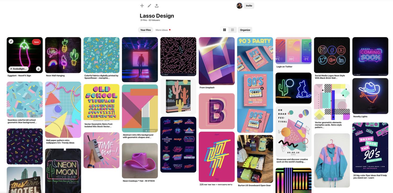 Lasso Pinterest Board