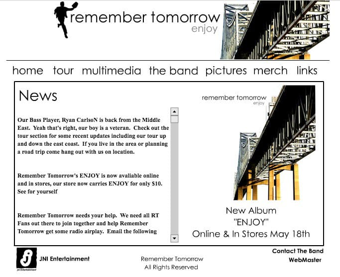 Remember Tomorrow Website