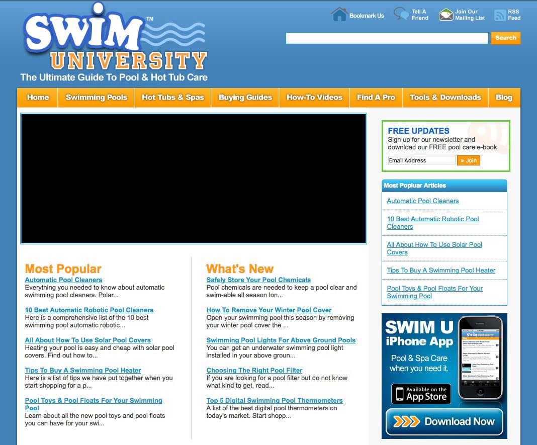 Swim University Website